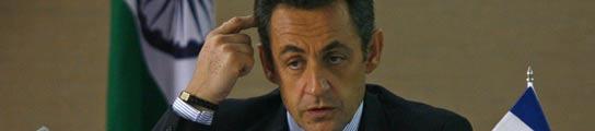 Nicolas Sarkozy en la India