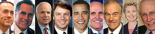 Candidatos a la presidencia de EE UU