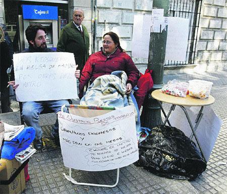 En huelga  de hambre por el metro