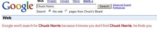Aquí te lleva Google si pinchas en Chuck Norris. (FOTO: GOOGLE)