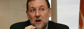 Mariano Rajoy, en un momento de la conversación