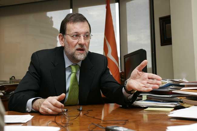 Mariano Rajoy, durante la entrevista