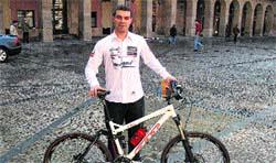 Un asturiano, a Laponia en bici