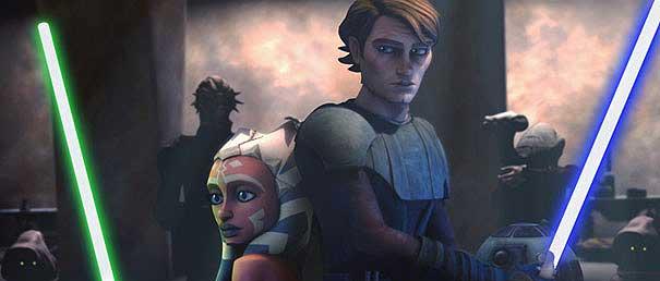 Imagen de la versión animada de 'La Guerra de las Galaxias'.