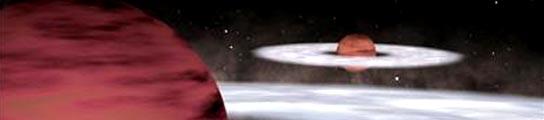 Recreación artística de dos planetas extrasolares. (NASA)