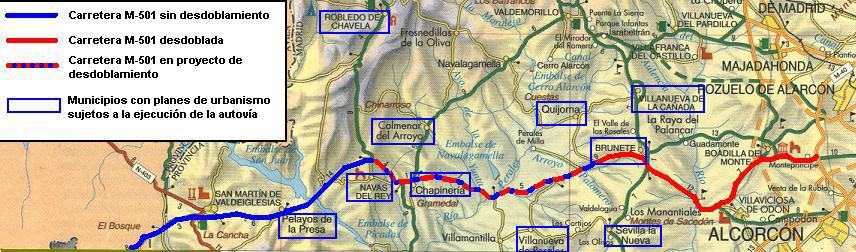 mapa carretera m 501