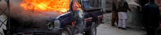 Tercer atentado contra el partido de Bhutto.