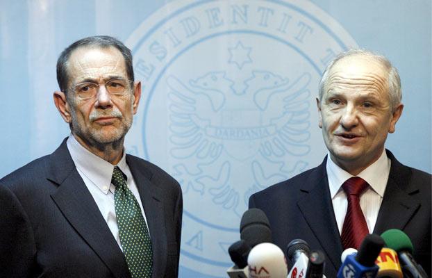 Javier Solana y Fatmir Sejdiu