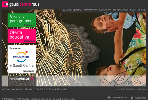 El Gaudí Centre de Reus pone en marcha una nueva web