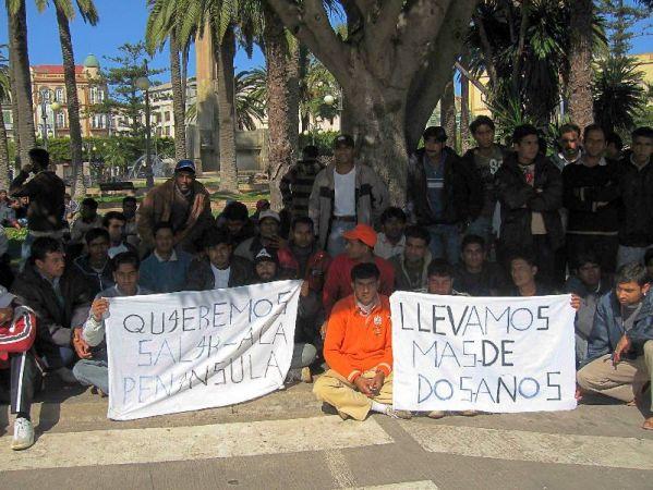 Huelga hambre inmigrantes