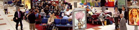 Vivía en el aeropuerto