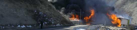 Un serbio, tras quemar un puesto fronterizo entre Serbia y Kosovo