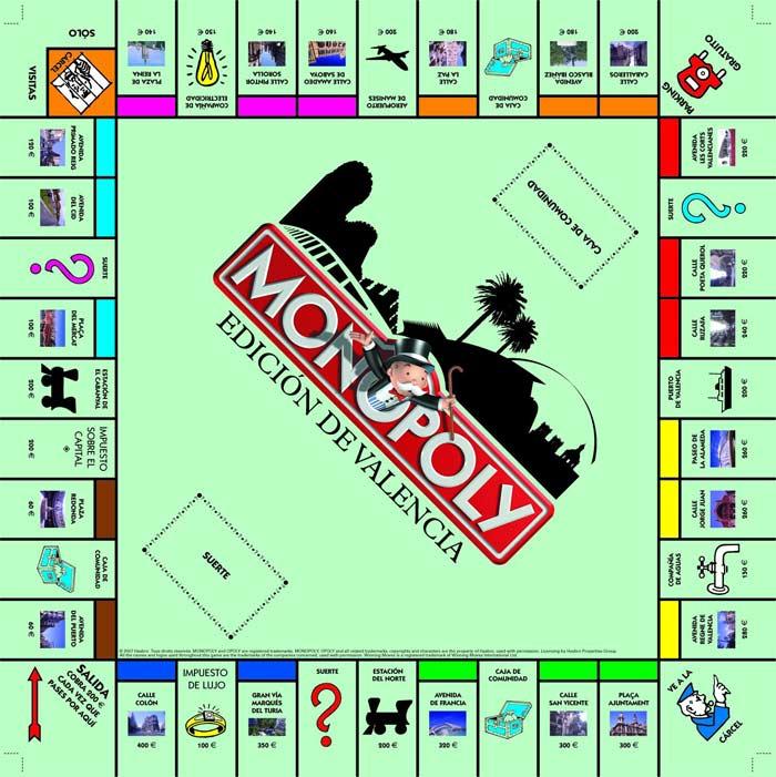 Version Valenciana Del Famoso Juego De Mesa Monopoly