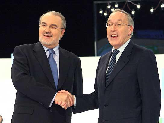 Pedro Solbes y Manuel Pizarro