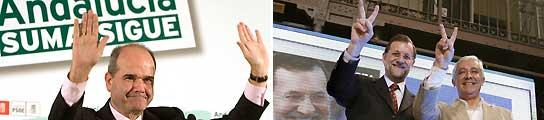 Chaves, Rajoy y Arenas