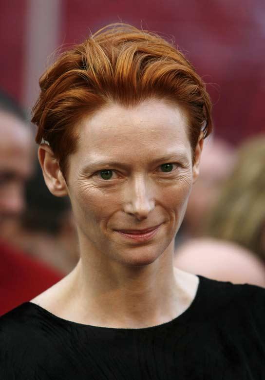 La actriz británicaTilda Swinton, a su llegada a los Oscar.