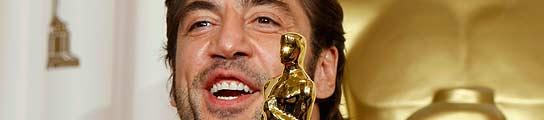 El actor Javier Bardem, con su Oscar.