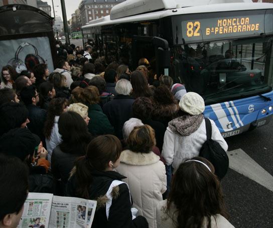 Viajeros huelga EMT