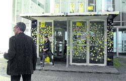 'Post-it' protesta en Pablo Picasso