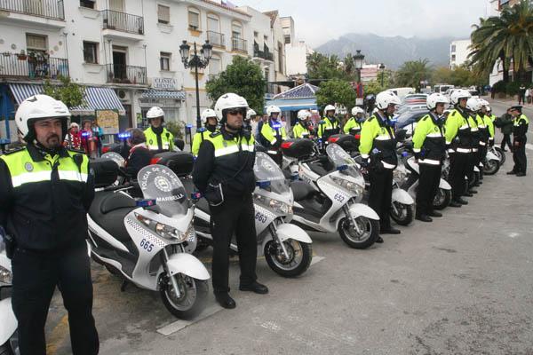 policia de barrio de marbella, agentes locales motorizados