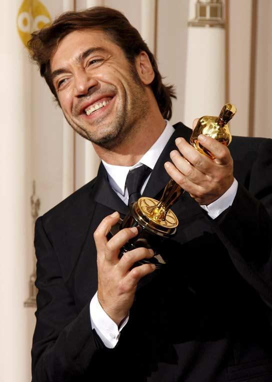 El actor español Javier Bardem, ganador del Oscar. Javier Bardem