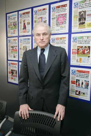 Ramón Calderón durante su reciente visita a la redacción de 20 minutos.