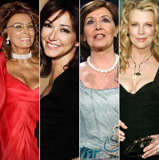 Sofía Loren, Ana Rosa Quintana, Concha Velasco y Kim Basinger