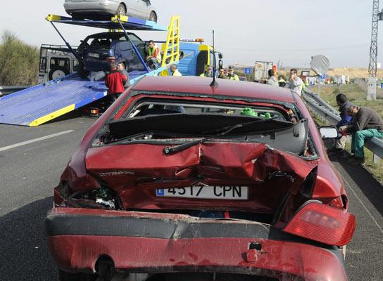 Accidente carretera múltiple