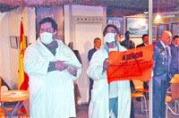 Protesta contra los militares en IFA