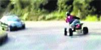 Cárcel para el conductor de un 'quad' que colgó sus temeridades en Internet