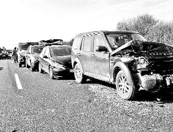 56 heridos al colisionar casi un centenar de coches en la A-5