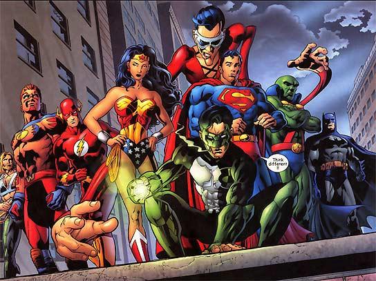 Imagen de los protagonistas de la Liga de la Justicia.