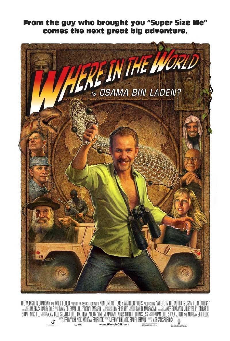 Cartel de 'Where in the world is Osama Bin Laden?'.