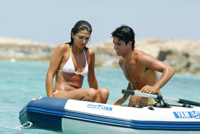 Lorena Bernal y Mikel Arteta