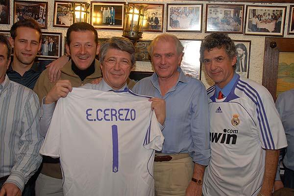 De izquierda a derecha: Gonzalo Miró, Carlos Hirschfeld, Enrique Cerezo, Ramón Calderón y Ángel María Villar