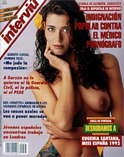 Eugenia Santana posa en Interviú. La canaria Euegenia Santana (Miss España 1992) también cayó en la tentación de posar ligerita de ropa en Interviú.