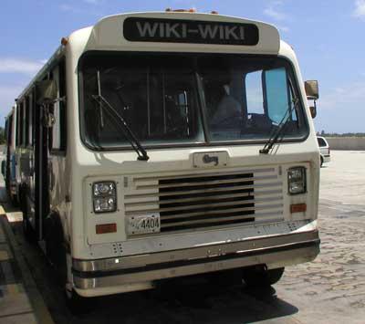 Un autobús en Honolulu llamado Wiki Wiki