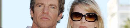 Dennis Quaid y su mujer