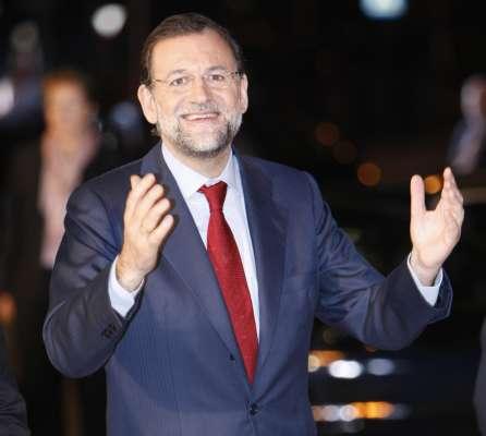 Mariano Rajoy, a su salida del Palacio de Congresos