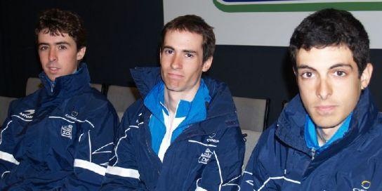 Aitor Ruano, Miguel Mínguez y Sergio de Lis