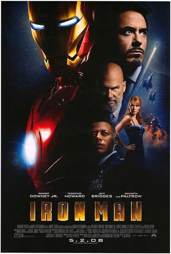 Póster oficial de la película de 'Iron Man'.