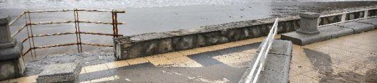 La playa de Ereaga en Getxo ha sufrido graves desperfectos.