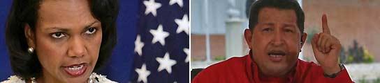 Condoleezza Rice y Hugo Chávez