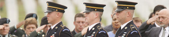 Funeral por un soldado norteamericano