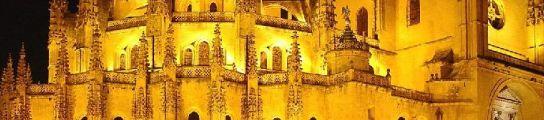 Vista nocturna Catedral de Segovia