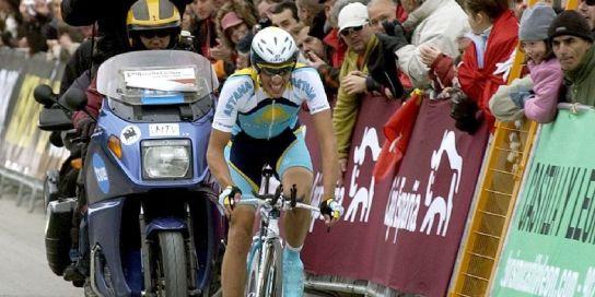 Alberto Contador en La Granja de San Ildefonso