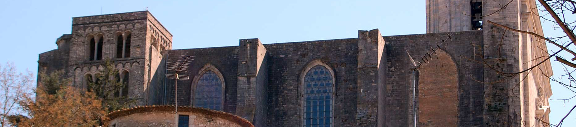 Fachada norte de la Catedral de Girona que se rehabilitará