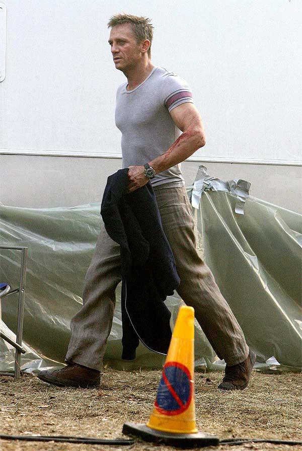 El actor Daniel Craig, durante el rodaje de 'Casino Royale'.