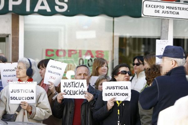 Huelga de funcionarios judiciales
