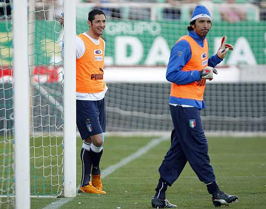 Materazzi y Buffon
